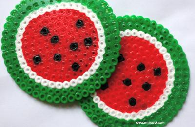 Watermelon Melty Bead Coasters
