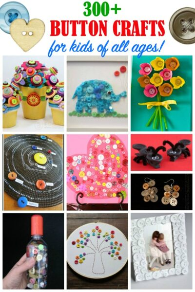 300 ideas for button crafts for kids