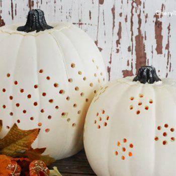 Decorative Drilled Pumpkins