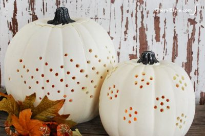 Decorative Drilled Pumpkins
