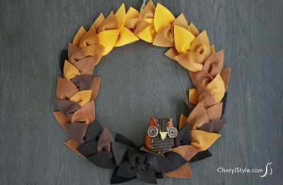 Felt Leaf Wreath