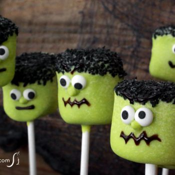 Frankenstein Marshmallow Pops