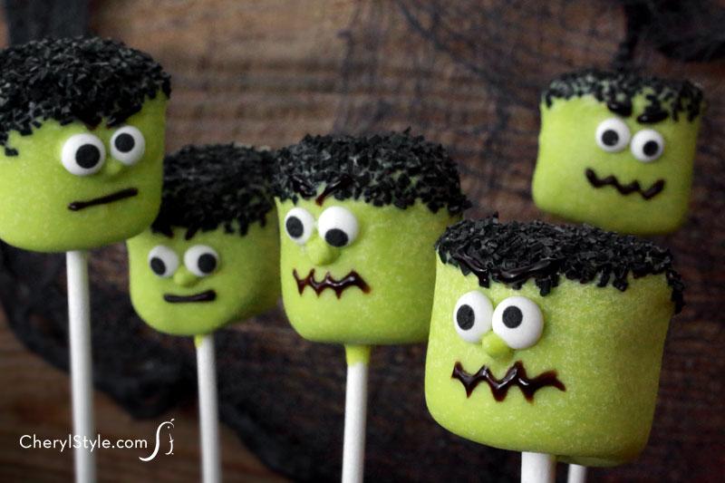 Frankenstein Marshmallow Pops Fun Family Crafts