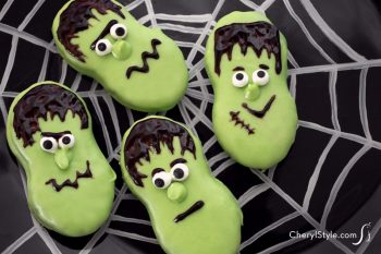 Halloween Frankenstein Cookies