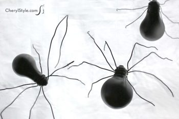 Halloween Light Bulb Spiders