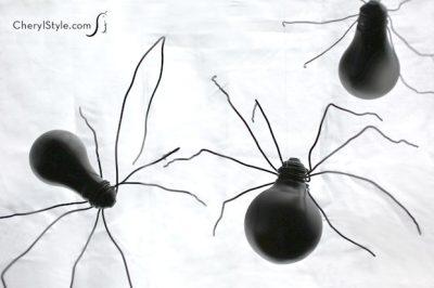 Halloween Light Bulb Spiders