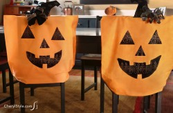 Halloween Pillowcase Chair Covers