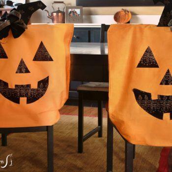 Halloween Pillowcase Chair Covers