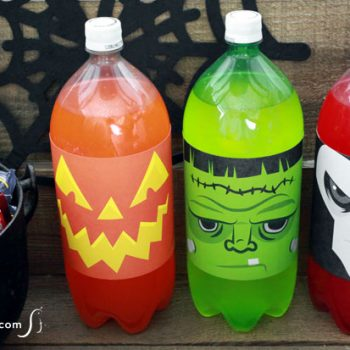 HHalloween Soda Bottle Labels