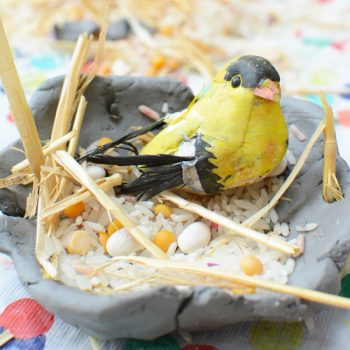 Easy Clay Bird's Nests