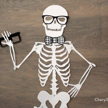 Printable Skeleton Halloween Decoration