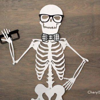Printable Skeleton Halloween Decoration