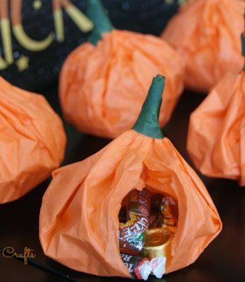 Pumpkin Pouch Goodie Bags