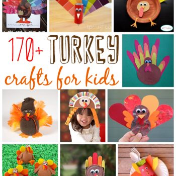 If you're looking for some fun turkey crafts to make with the kids, we've collected over 170 turkey crafts for toddlers, preschoolers and older kids too! You will find turkeys made from recycled items, jars, construction paper, paint, food, socks, and more!