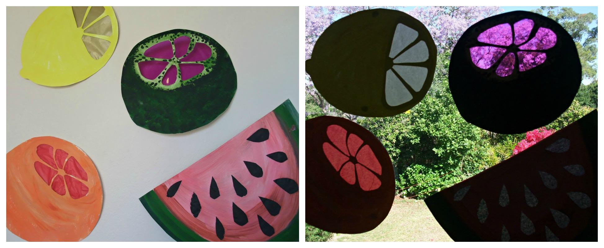 Summer Fruits Suncatchers
