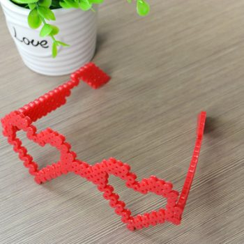 Heart Perler Bead Glasses