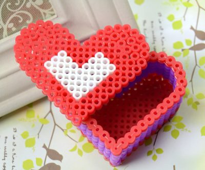 Perler Bead Red Heart Box Fun Family Crafts