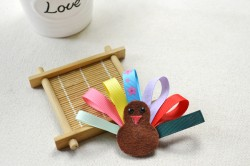 Ribbon Turkey Hair Bow