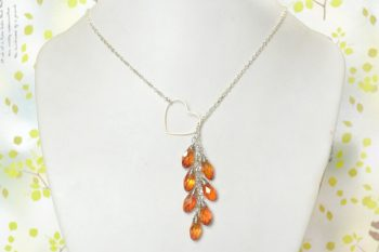 Heart Lariat-Style Necklace