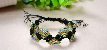 Adjustable Macramé Beaded Bracelet