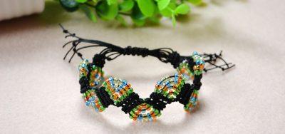 Adjustable Macramé Beaded Bracelet