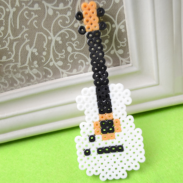 Guitar crafts for kids use cardboard a cereal box etc perler bead guitar ccuart Image collections