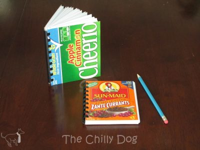 Cereal Box Notebooks