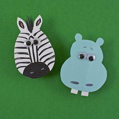 Zebra & Hippo Magnets