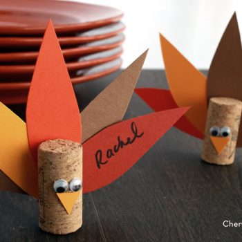 Cork Turkey Place Cards