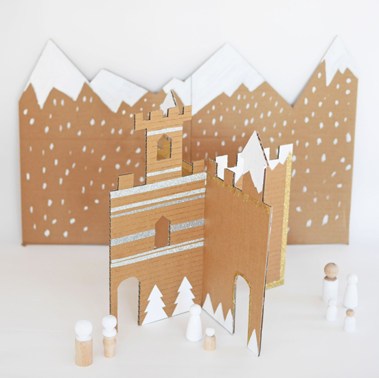 Cardboard Winter Castle Fun Family Crafts