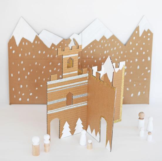 Cardboard Winter Castle