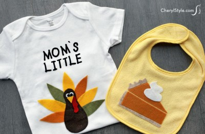Thanksgiving Baby Bib and Onesie