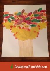 Thanksgiving Family Tree