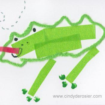 Mixed Media Frog