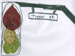 Traffic Light Leaf Craft