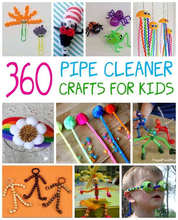 Pipe cleaner crafts for kids fun family crafts for Art and craft books for kids