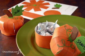 Printable Pumpkin Place Card