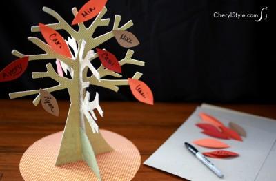 Printable Thanksgiving Family Tree