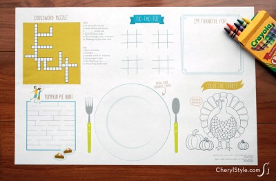 Printable Thanksgiving Placemat