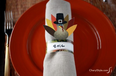 Printable Turkey Napkin Rings