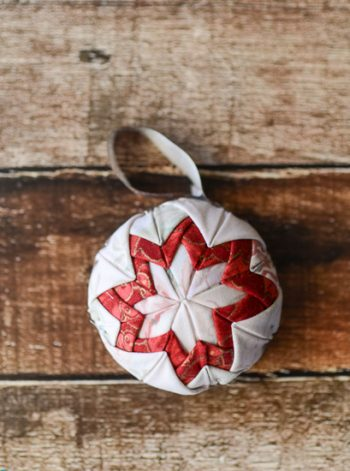 Faux-Quilted Christmas Ornament