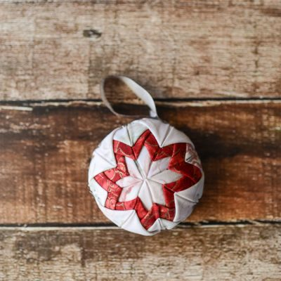 Faux Quilted Christmas Ornament