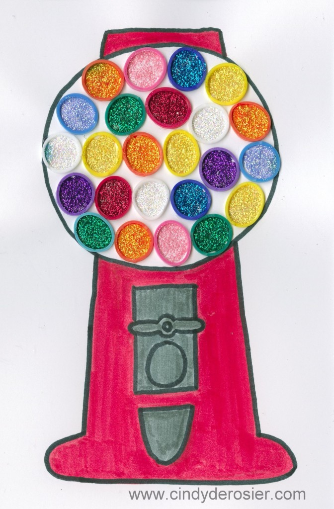 Glitter Art Gumball Machine