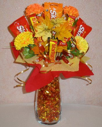 Thanksgiving Candy Centerpiece