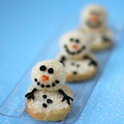 Mini Melting Snowman Cheese Balls