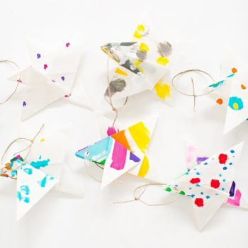 Painted Origami Star Ornaments