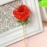 3-D Beaded Rose