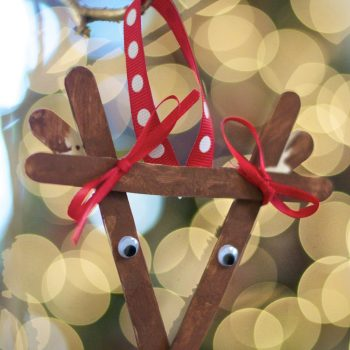 Popsicle Stick Reindeer Ornament