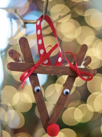 Popsicle Stick Reindeer Ornament