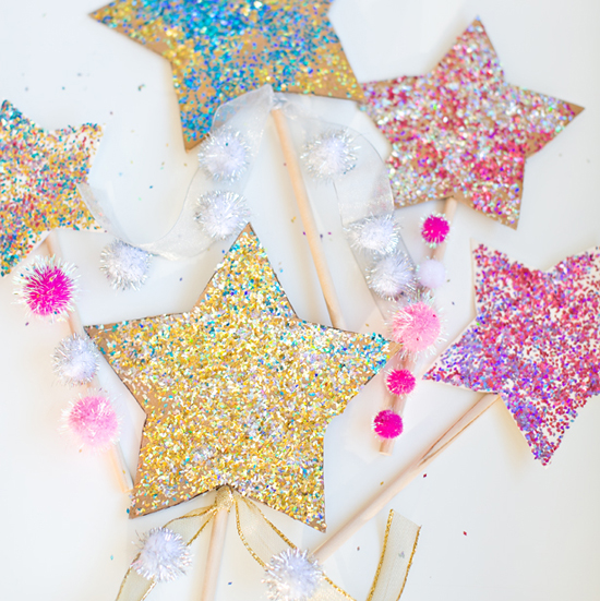 Glitter Star Wands